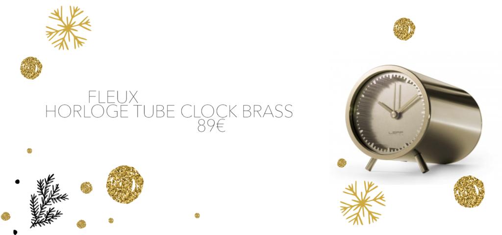 horloge tube fleux