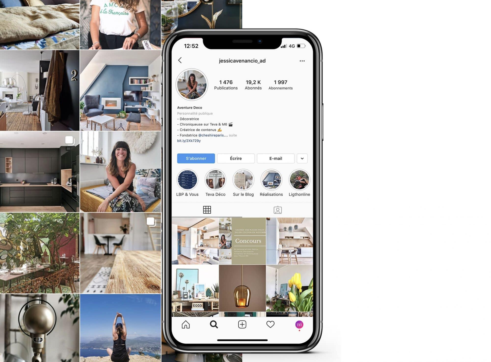 influenceur décoration instagram