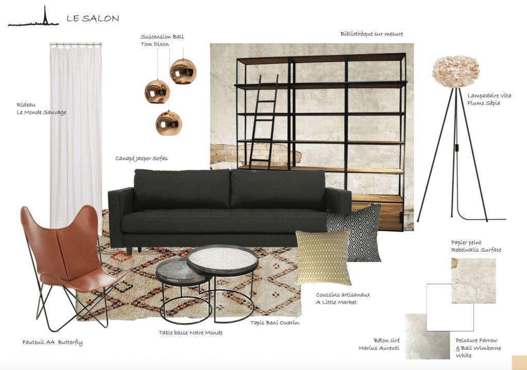 Planche mobilier decoration Elodie GALLAIS