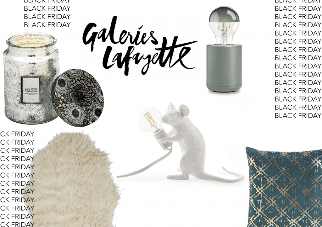 galerie lafayette black friday deco